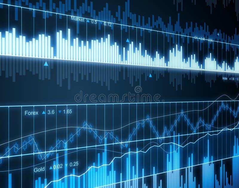 Business stock market chart screen stock illustration