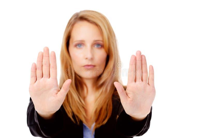 Business stop gesture