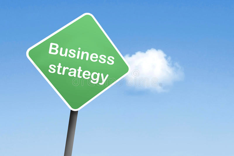 Business strategy. On a sign stock photos