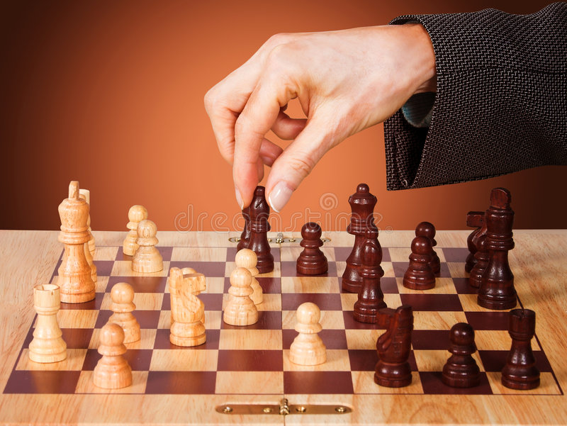 Download Business strategy - chess stock image. Image of person - 469863