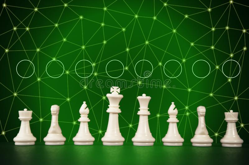 Business strategy concept on black background. Start up business planning Strategy idea with chess game. 16. Business strategy concept. Chess strategy idea on stock photography