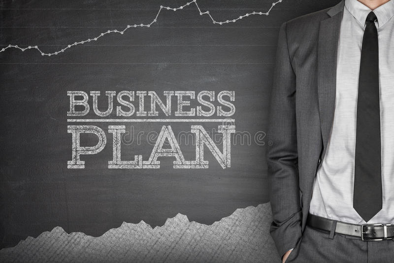 Business strategy concept on blackboard royalty free stock images