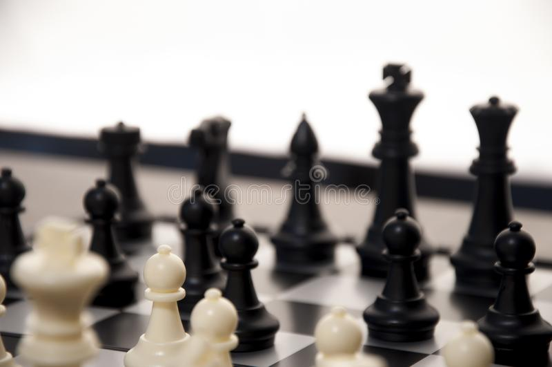 Business strategy concept on black background. Start up business planning Strategy idea with chess game. 10. Business strategy concept. Chess strategy idea on royalty free stock photography