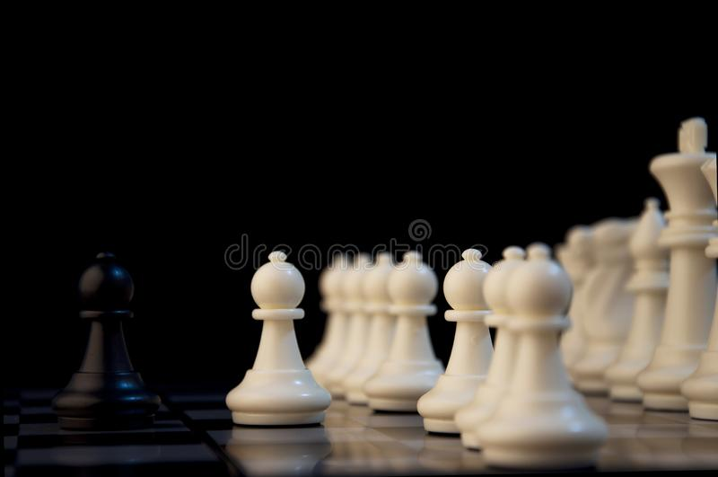 Business strategy concept on black background. Start up business planning Strategy idea with chess game. 13. Business strategy concept. Chess strategy idea on stock image