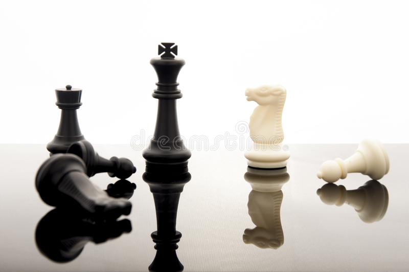 Business strategy concept on white background. Start up business planning Strategy idea with chess game. 6. Business strategy concept. Chess strategy idea on stock photography