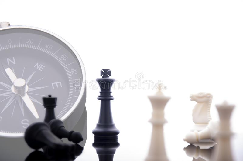 Business strategy concept on white background. Start up business planning Strategy idea with chess game. Business strategy concept. King chess strategy idea on stock images
