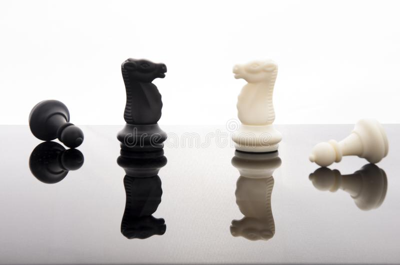 Business strategy concept on white back ground. Start up business planning Strategy idea with chess game. 5. Business strategy concept. Chess strategy idea on stock image