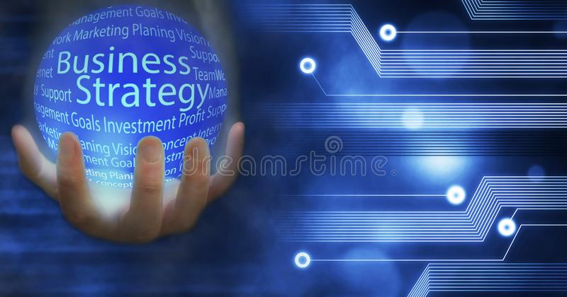 Business Strategy Earth globe connected Innovation with ideas and concepts,Training,business stock illustration