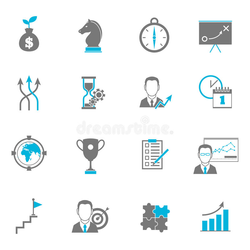 Business Strategy Planning Icons vector illustration