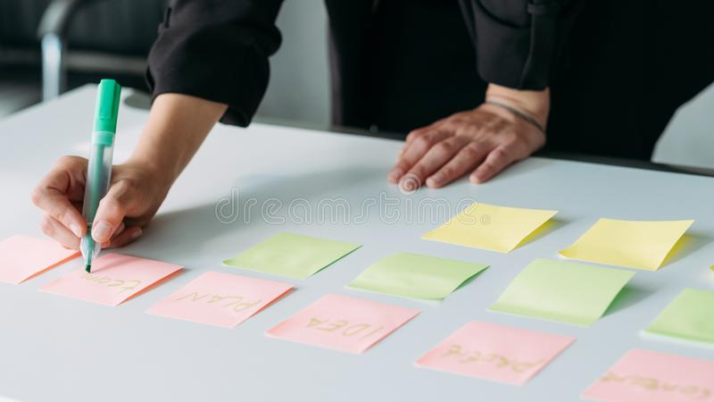 Business strategy planning marketing analysis stock photos