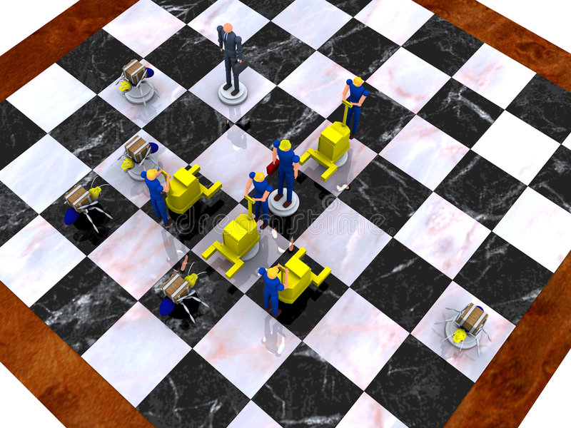 Download Business Strategy vol 3 stock illustration. Image of chessboard - 391711