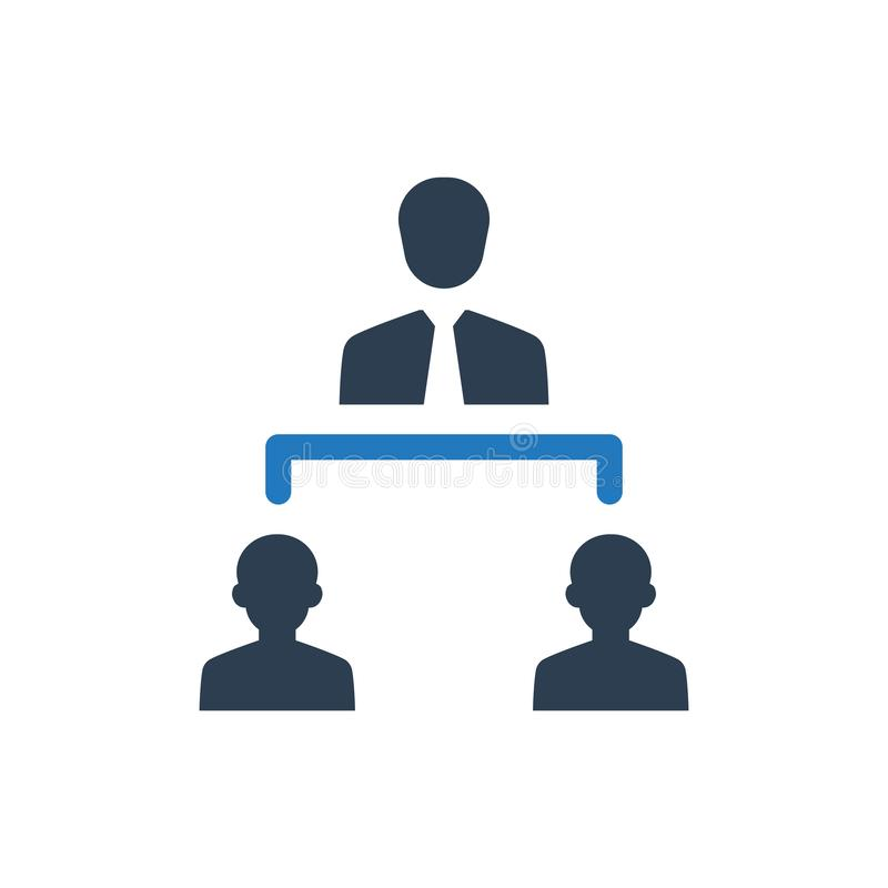 Business structure icon stock illustration