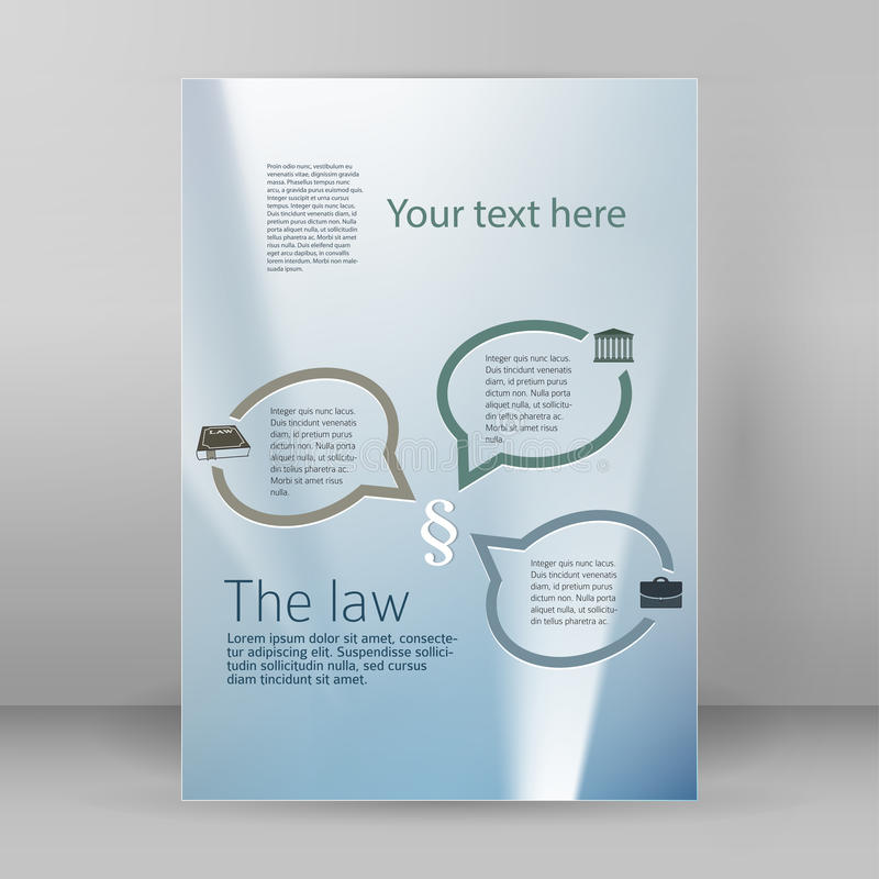 Business Style Law Flyer Template A4 Brochure Layout Stock Vector