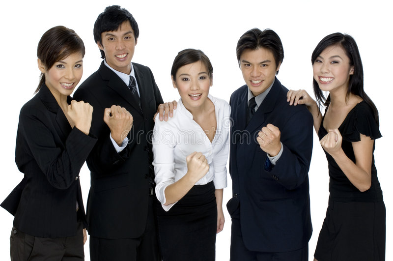 Download Business Success stock photo. Image of businessmen, five - 1408724