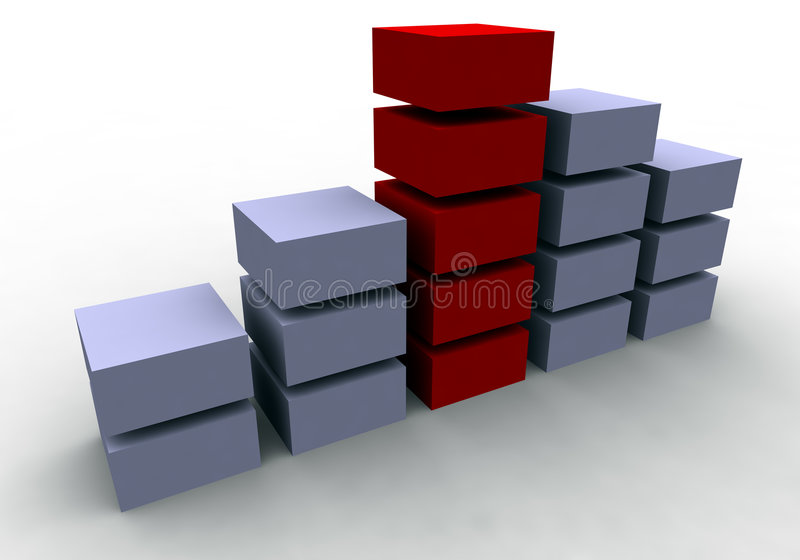 Business Success (3D Chart) royalty free illustration