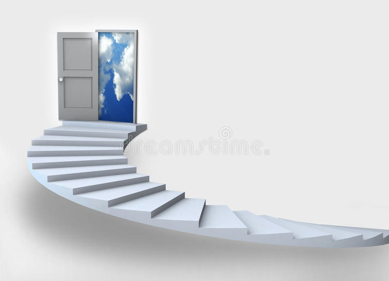 Business Success 3D staircase royalty free stock photos