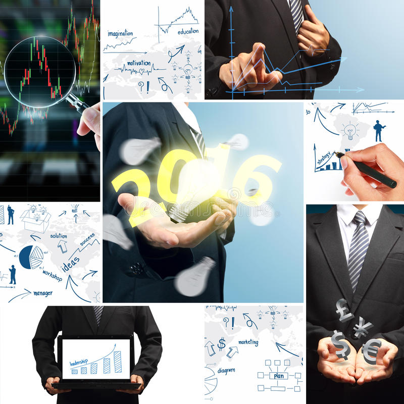Business success concept new year 2016 stock illustration