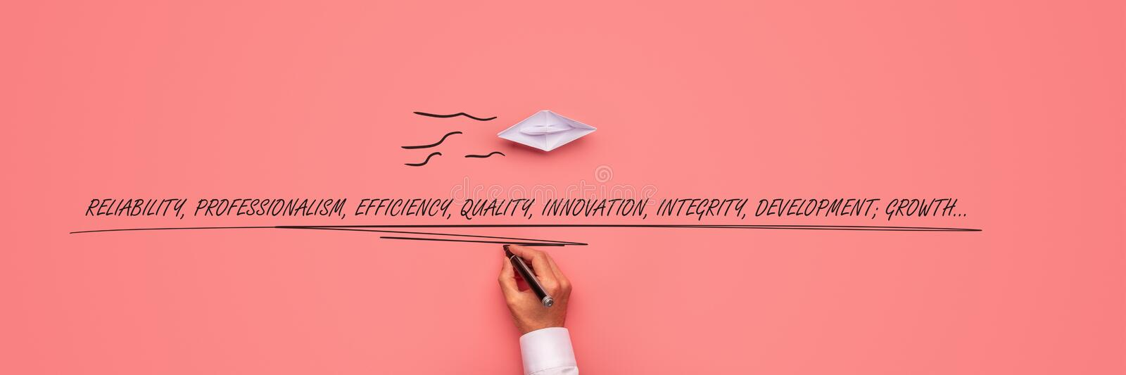 Business success conceptual image royalty free stock photography