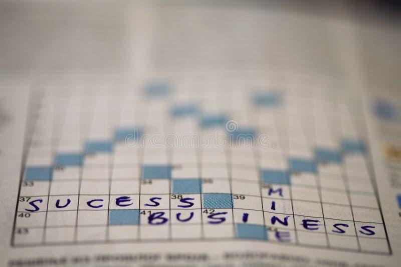Business success crossword stock photo