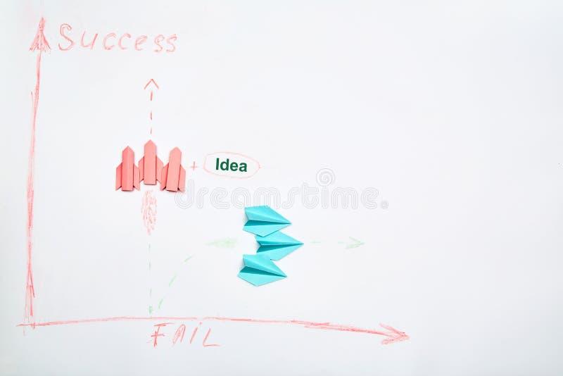 Business success e fail concept Soluzione, rivalità e sfida Una squadra di leader che pensano strategicamente immagine stock