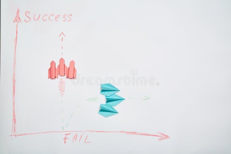 Business success e fail concept Soluzione, rivalità e sfida Una squadra di leader che pensano strategicamente immagini stock