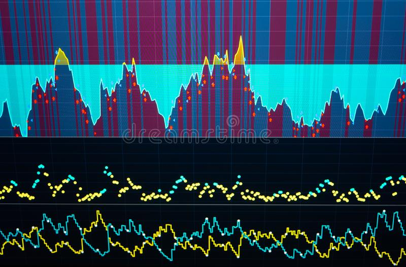 Business success and growth concept. Stock market business graph chart on digital screen stock photography