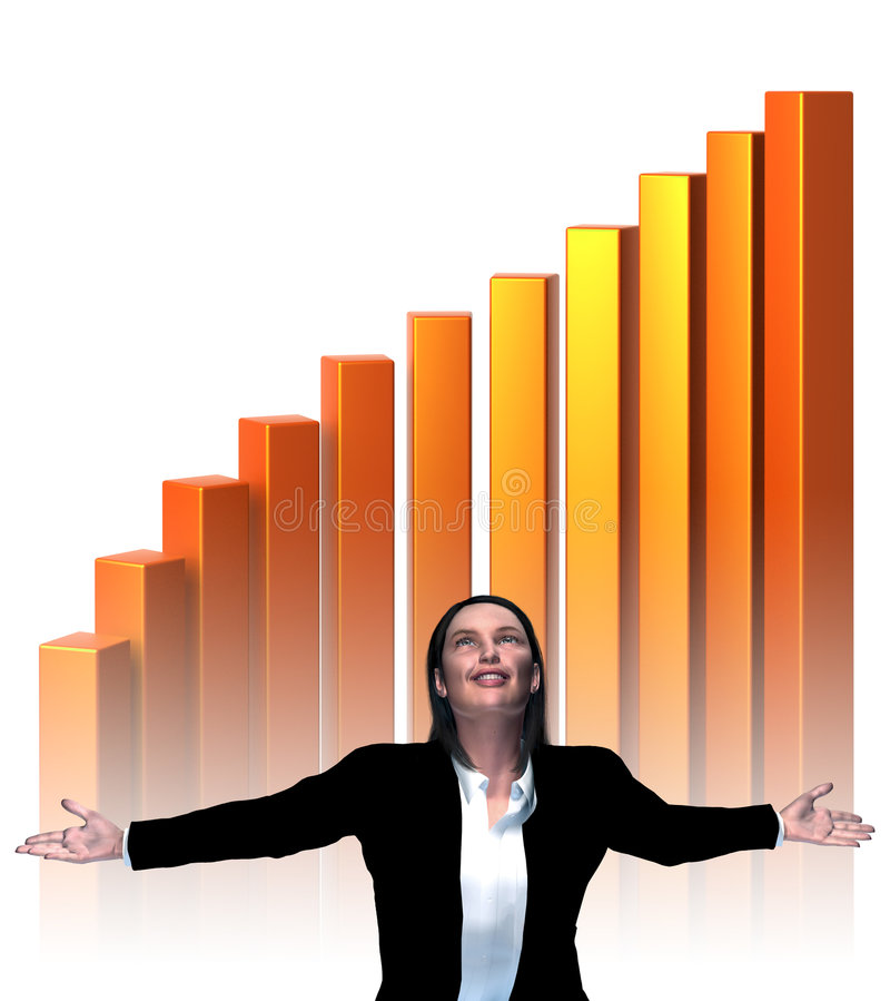 Download Business Success - Virtual stock illustration. Image of woman - 6755599