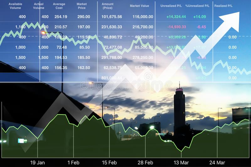 Business successful financial investment in real estate and tour. Ism stock market data index research and analysis background royalty free stock photo