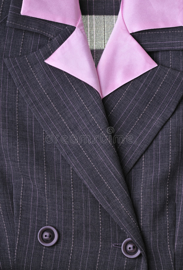 Business suit for female. Detail view of the business suit for women stock image