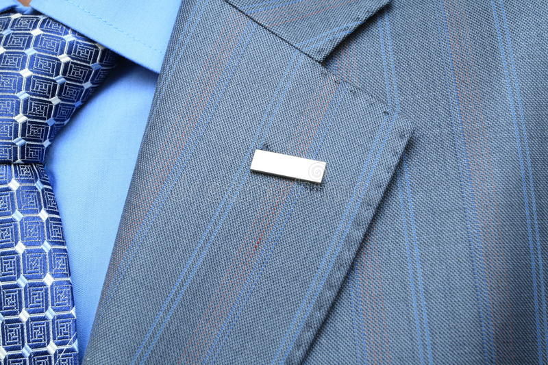 Business suit, tie, shirt. And accesories stock photo