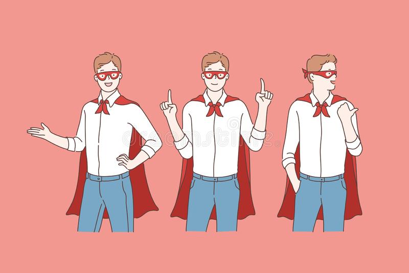 Business super hero or promotion. royalty free stock photos