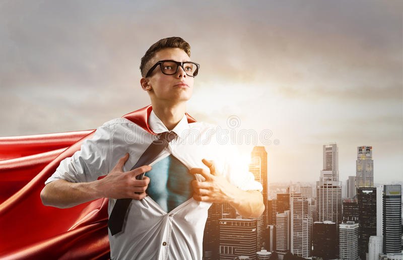 Business super hero stock photography