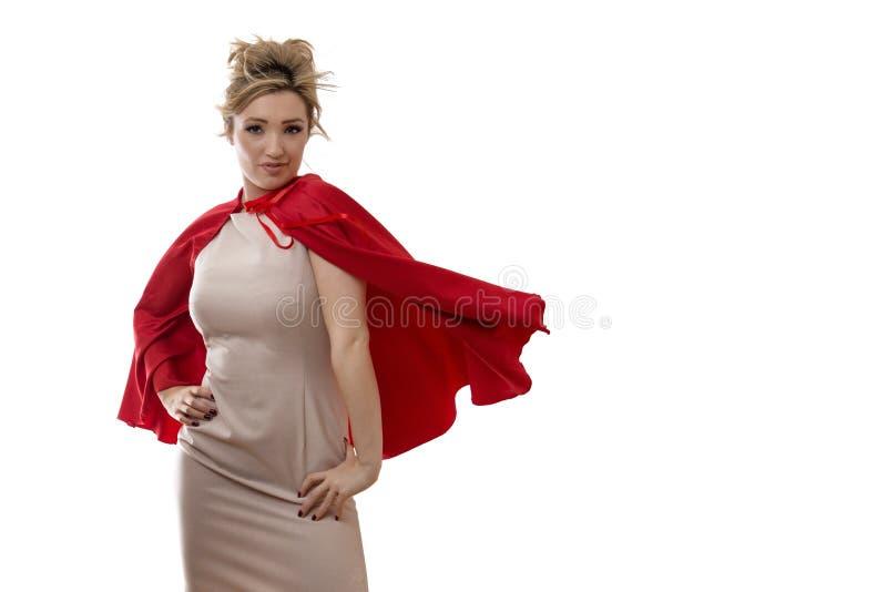 Business superhero royalty free stock photography