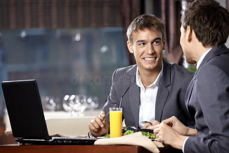 Business supper stock photography