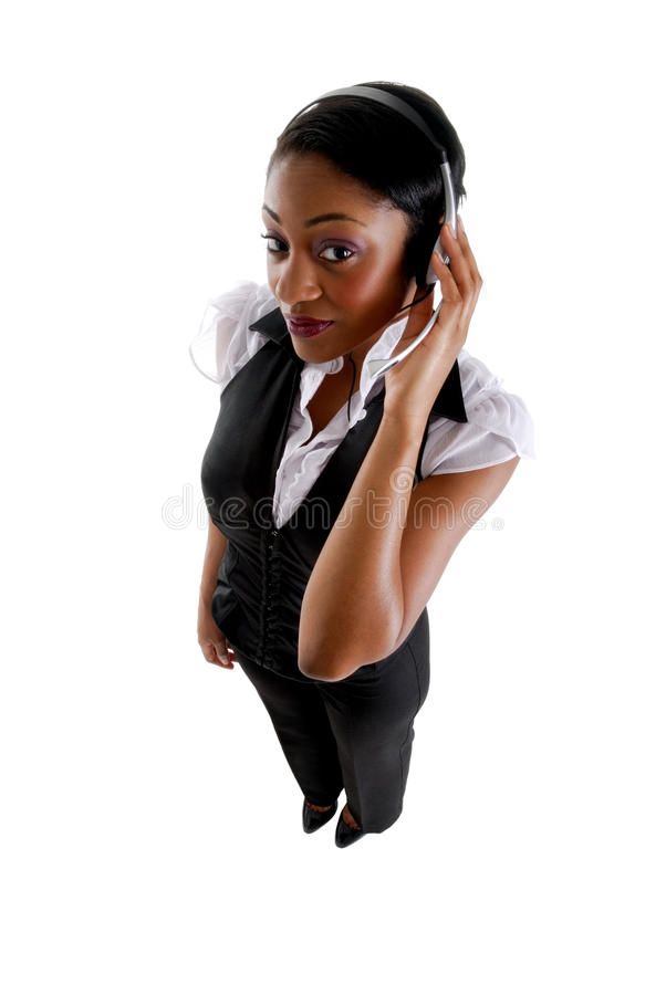 Business support operator. This is an image female business support operator stock photos