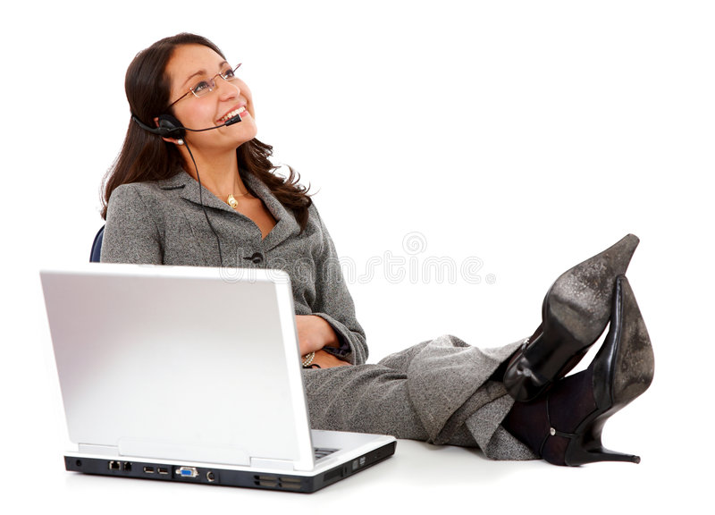 Business support woman on a break