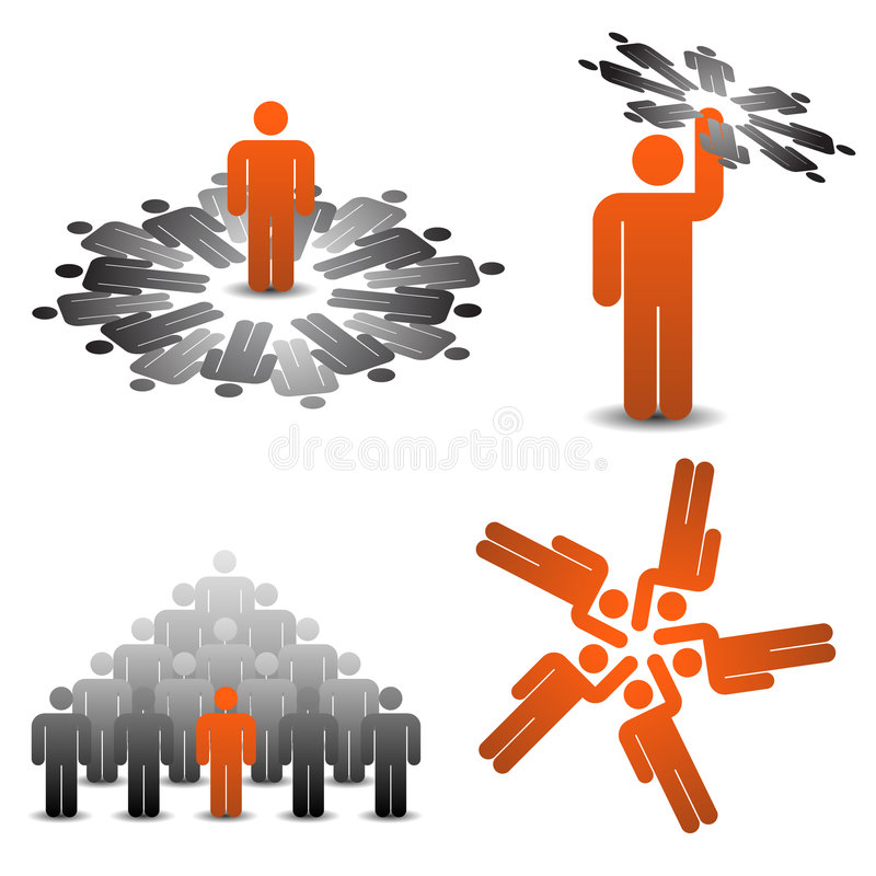 Download Business symbols teamplay stock vector. Image of symbol - 9080487