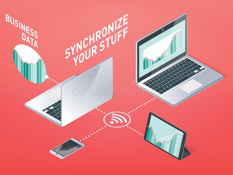 Business synchronization royalty free illustration