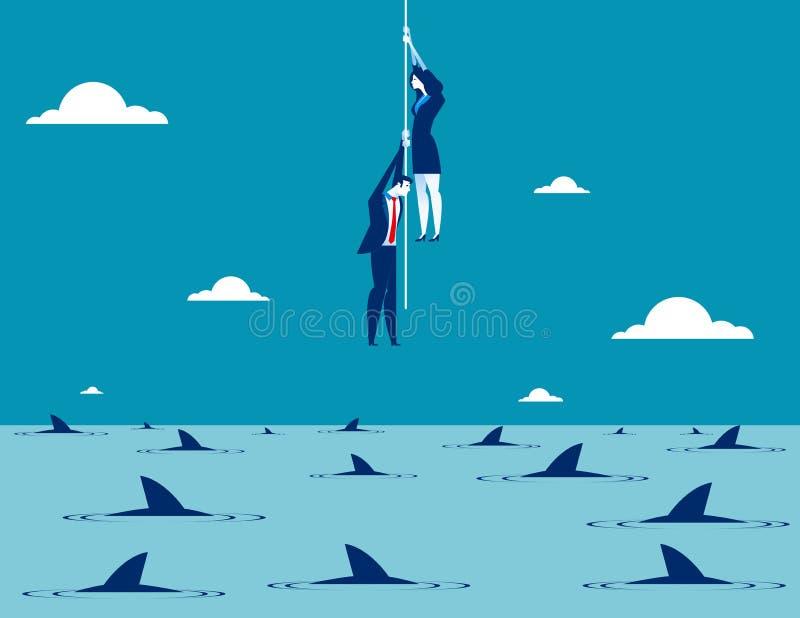 Business taking risks. Concept business vector illustration stock illustration