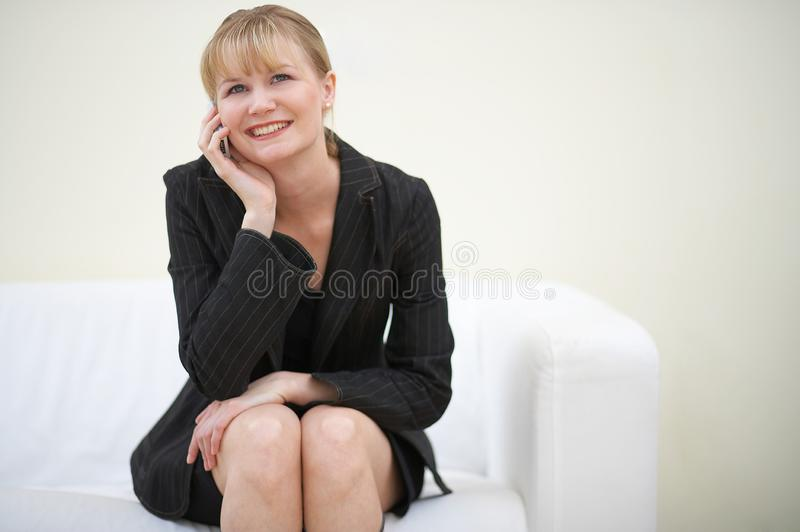 Business talk stock photos
