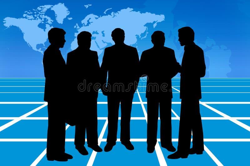 Business talk stock illustration