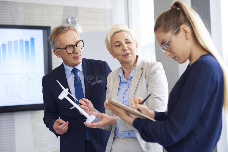 Business talks at conference room. Business talks in the modern office royalty free stock images