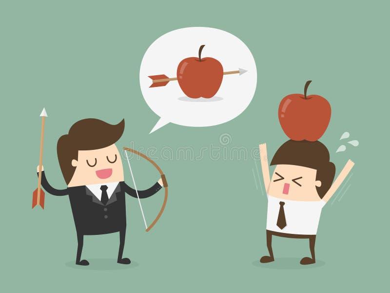 Business target concept vector illustration