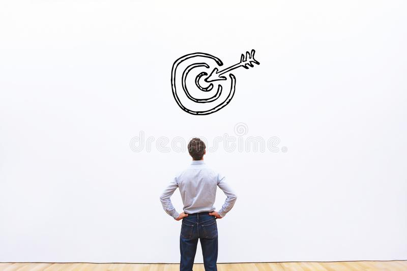 Business target or goal concept. Aim stock photography