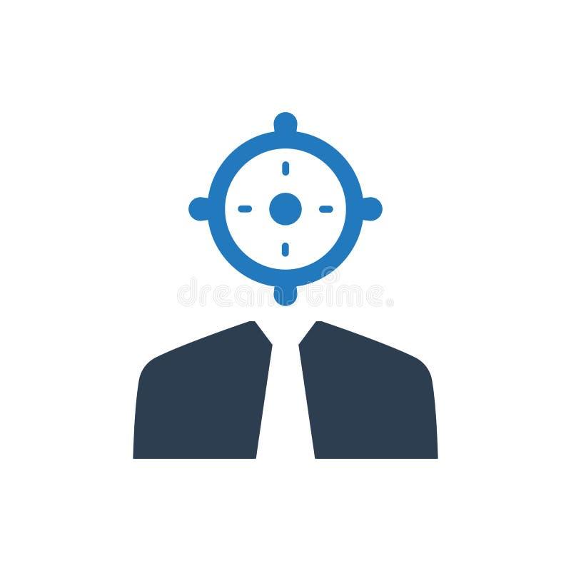 Business target icon stock illustration