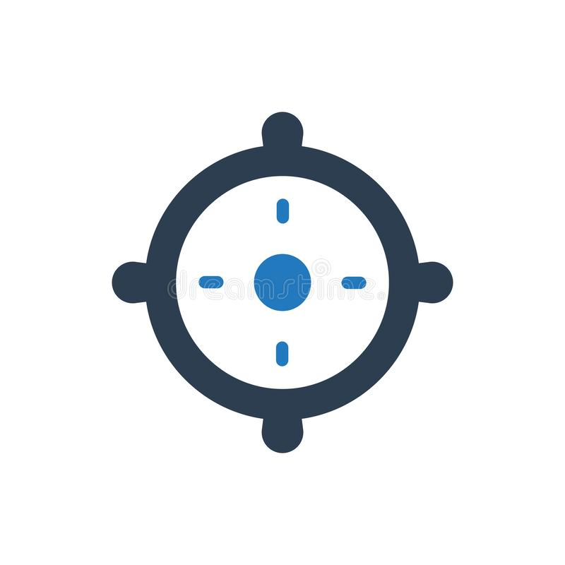 Business target icon vector illustration
