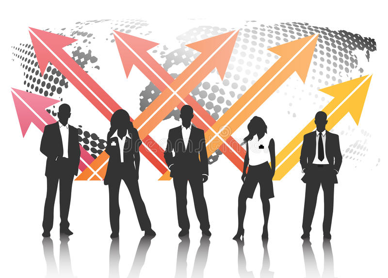 Business team. Vector illustration of business people vector illustration