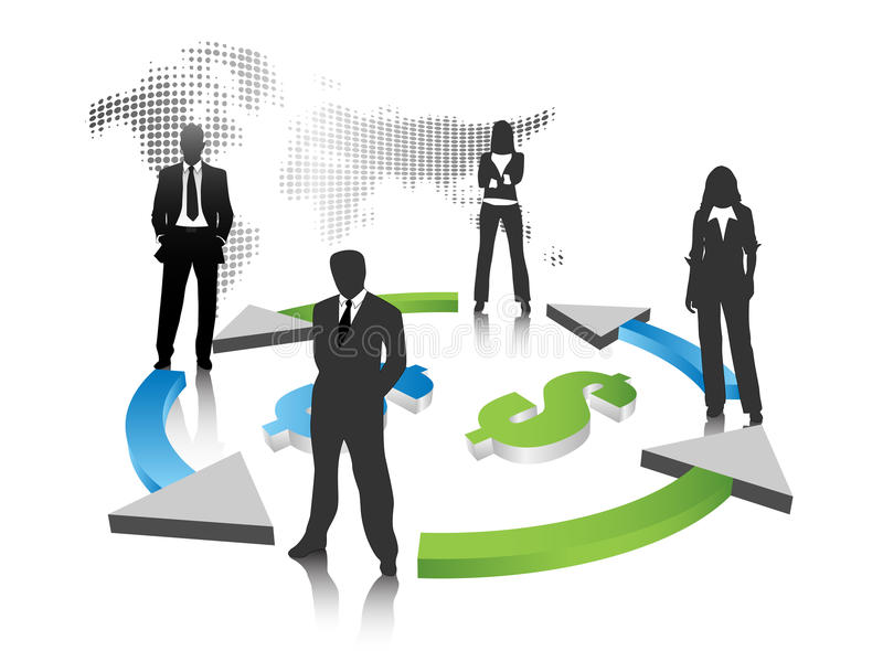 Business team. Vector illustration of business people royalty free illustration