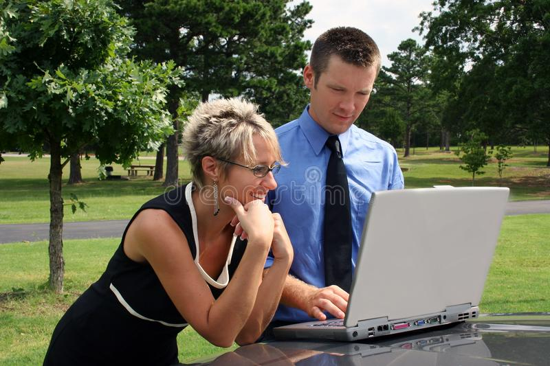 Download Business Team stock photo. Image of outside, remote, computer - 1108026