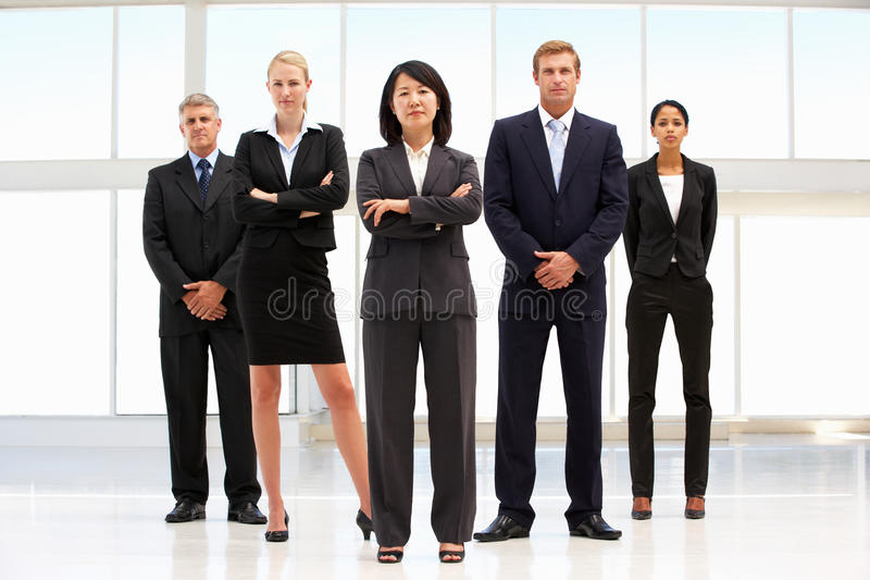 Business Team. Standing In Office royalty free stock images